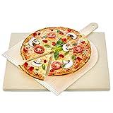 KLAGENA Pizza-Brotbackstein Set für Backofen und Grill, mit 2 Jahre Geld-zurück-Garantie –...