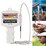 Qulista Wasserqualität Tester PH,Wassertestgerät PH Chlor,Chlormessgerät Messgerät,Wassertester...