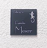 Edles Türschild 12x12 cm / Schild mit Gravur und Motive versch. Formen und Größen Namensschild in...