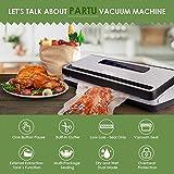 PARTU Vakuumiergerät - Vakuumierer für Trockene und Feuchte Lebensmittel 30cm lang stabile...