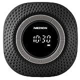 MEDION E66554 Duschradio mit Bluetooth, 20 Watt, PLL UKW, IPX7, eingebauter Akku, schwarz