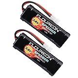 2x Floureon RC Akku 7.2V nimh Akku 3500mAh Modellbau Akku mit Tamiya Stecker Batterie Ersatzakku...