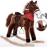 Schaukelpferd Schaukeltier Plüsch Schaukel Wippe Pferd Kinder Baby Spielzeug...