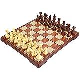 Peradix Schachspiel Schach mit Deluxe Magnetischem Faltbarem Schachbrett (35*30cm Braun)