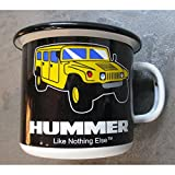 hotrodspirit–Tasse Hummer H1H2H3in Email Kaffeetasse, emailliert, 4x 4