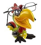 by-Bers Brillenhalter Die_Vögel Design , handbemalter Tukan, Papagei, aus Polyresin (grün)
