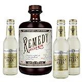 Remedy Spiced Rum (1 x 0,7l) + 3 Flaschen Fever Tree Ginger Beer (3 x 0,2l) (Mehrweg) inklusive...
