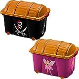 Aufbewahrungsbox für Mädchen 'Fee'  50L  mit Deckel  mit 4 Rollen  vielseitig einsetzbar -...