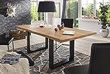 Esstisch Wildeiche Massivholztisch Tisch Baumkante Eiche Esszimmer Neu 220x100 Natur geölt