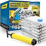 Superstarke Vakuumbeutel für Bettdecken Kleidung Matratzen 6 Stück groß 100x80cm - Vacuum Storage...