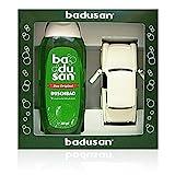 Geschenkset Badusan Duschbad 250 ml Koniferen- & Rosskastanienduft + Trabant weiß 601S 1:30, ca. 12...