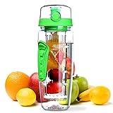 OMORC Wasserflasche, [BPA-frei Tritan] Kunststoff Trinkflasche Sport Flasche 1L Sportflasche...