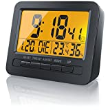 "CSL - Funk Wecker Digital / Reisewecker / DCF-Funkuhr | 2,7"" LCD-Display 
