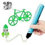 Uvistare 3D Drucker Stift Set 3D Stereoscopic Printing Pen Drawing, 3 x 3M PLA Filament ( Blau Rot...