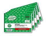 Sigel SD120/5 Quittungsblock für Kleinunternehmer A6 quer, 2x30 Blatt, selbstdurchschreibend, 5...