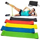 Vkaiy Fitnessbänder/Widerstandsbänder, Set-5 Gymnastikband aus Latex, Trainingsbänder, Loop...