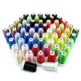 Simthreads 63 Farben Polyester Maschinen Stickgarn - 500 Meter, für...