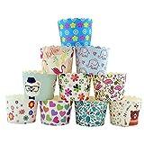 CAN_Deal 100 Stück Muffin Backformen aus stabilem Papier, groß Ø 5 cm, Muffinförmchen / Cupcake...