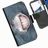 Hairyworm- Fisch Seiten Leder-Schützhülle für das Handy Sony Xperia E1