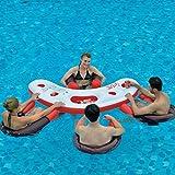 Jilong Fashio Pool Bar Set mit 4x Schwimmsessel Poolsessel Poolnudel mit Meshsitz + schwimmender...