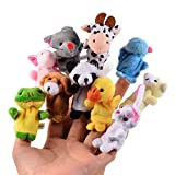 Gearmax 10pcs Verschiedene Karikatur-Tier Fingerpuppen , Fingertiere / Fingerpuppen Tiere - 10...