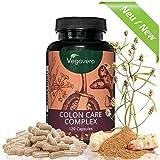 Darmreinigung | Colon Care Komplex | Detox Darm | 120 Kapseln | Flohsamenschalen - Fenchel –...