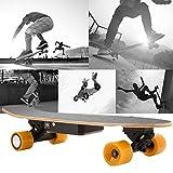 AIMADO Elektrisches Skateboard 10-20 km/h Transport elektrisches Longboard mit Drahtloser...