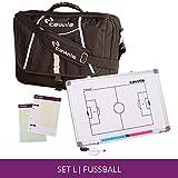 Trainertasche Trainer Briefcase inklusive Zubehör für Fußball, Schwarz, Größe L (Maße: 35 x 50...