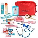 BeebeeRun Arztkoffer Kinder Holz,Arzt Spielzeug,Medizinische Spielzeug Kit,Doktor Set,Kinder...