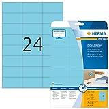 Herma 4468 Farbetiketten ablösbar (70 x 37 mm auf DIN A4 Papier matt) 480 Stück auf 20 Blatt,...