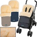 Winterfußsack / Fußsack (100% ECHTES LAMMFELL) für Kinderwagen / Buggy / Jogger...