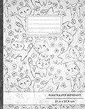 """Punktraster Notizbuch • A4-Format, 100+ Seiten, Soft Cover, Register, """"Lustige Katzen"""" •..."""