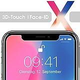 nandu 3D-Touch Glas für iPhone X Schutzfolie 9H Härte Glas-Folie Display-Schutz