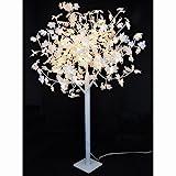 LED Baum Ahornbaum 180cm weiss 192LED Metall Lichterbaum Leuchtbaum Dekobaum