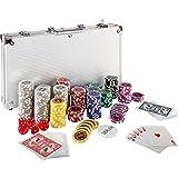 Ultimate Pokerset mit 300 hochwertigen 12 Gramm METALLKERN Laserchips, inkl. 2x Pokerdecks, Alu...
