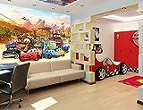 Kinder Fototapete - Poster CARS-AUTOS Kinderzimmer Wandbild, Bordüre, Tatoo, Sticker (250x170cm...