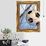 Baffect 3D Wandaufkleber, Kreatives Fußball Decowall Wandtattoo Wandsticker Wandaufkleber Wanddeko...