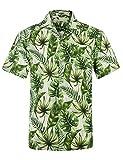 APTRO Herren Hemd Strandhemd Hawaiihemd Kurzarm Urlaub Hemd Freizeit Reise Hemd Party Hemd BT032...