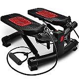 Sportstech 2in1 Twister Stepper mit Power Ropes – STX300 Drehstepper & Sidestepper für Anfänger...