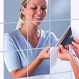 16 Stück Spiegel Wandaufkleber ,Spiegelfliesen Wandspiegel Selbstklebend DIY Mosaik Fliesen...