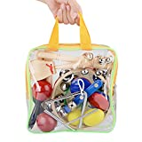 Kinder Musikinstrumente, Holz Instrumente Set für Kinder, Musik Kinderspielzeug, getestet mit EN71,...