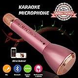 Tragbares Mikrofon Bluetooth Drahtloses, Karaoke Mikrofon Bluetooth Lautsprecher, Mikrofon...