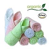 Bambus Baby Waschlappen natürlichen Bio-Baby-Gesicht Handtücher-wieder verwendbar und extra weiche...