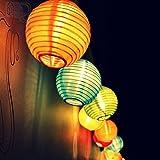 Samoleus Solar Outdoor Lichterkette 4.8 Meter 20 LEDs Lampions Laterne Solarbetrieben Lichterkette...