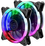 upHere Computer-Gehäuselüfter 120mm LED Silent-Lüfter für Computer-Gehäuse, CPU-Kühler und...