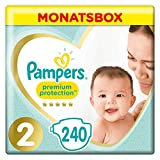 Pampers Premium Protection Windeln, Gr.2, 4-8kg, Monatsbox, 1er Pack (1 x 240 Stück)