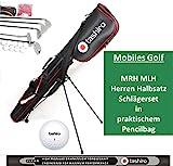 GOLFSET HERREN Linkshänder Rechtshänder Auswahl Golfbag 5 Golf-Schläger Komplettset Golfbälle...