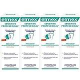 Elmex Sensitive Professional Zahnspülung Probiergröße, 4er Pack (4 x 100 ml)