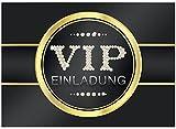16 edle VIP Einladungskarten Geburtstag - Motiv V.I.P. - Für Party, WG, Einweihung,...