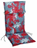 Best 01101111 Sesselauflage nieder STS 100 x 50 x 8 cm, Dessin 1111
